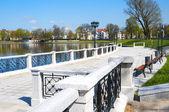Embankment of Upper Pond. Kaliningrad — Stock Photo
