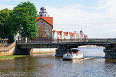View of the Honey Bridge. Kaliningrad — Stock Photo