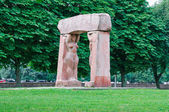 Sculptural composition on the island of Kant. Kaliningrad — Stock Photo