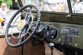 Interior of Russian retro vehicle UAZ on City Day of Kaliningrad celebration — Stock Photo