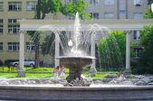 Fountain in the park near the Drama Theatre. Kaliningrad — Stock Photo