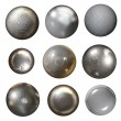 Steel rivet heads — Stock Photo