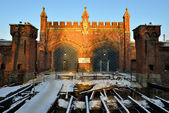Friedland Gate, the inner side. Kaliningrad — Stock Photo