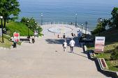 Stairs to Svetlogorsk promenade — Stock Photo