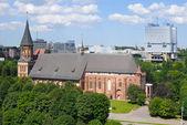 Kenigsberg Katedrali ve Sovyetler evi — Stok fotoğraf