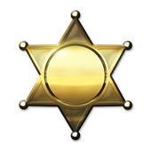 Golden Sheriff Badge — Stock Photo