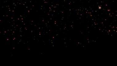 Animation of confetti falling — ストックビデオ