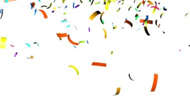 Animation of colorful confetti falling — Stock Video