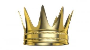 Королевская корона вращение — Стоковое видео