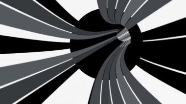Binary data tunnel animation — Stock Video