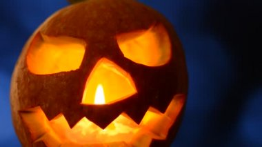 Halloween jack o lantern — Stock Video