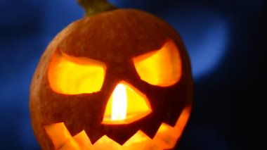 Halloween jack o lantern — Stok video