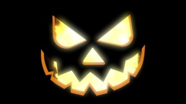 Halloween jack o fener — Stok video