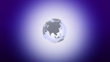 Schematic planet — Stock Video