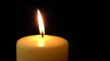 Candle burning — Stock Video