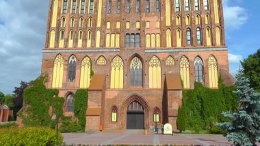 Kant's cathedral in Kaliningrad. Russia — Stock Video
