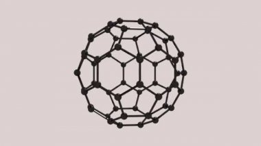 3d molecular spherical lattice — Stock Video