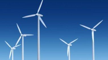 Wind Turbines — Stock Video