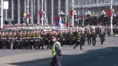 Ceremonial parade in Kaliningrad — Stock Video
