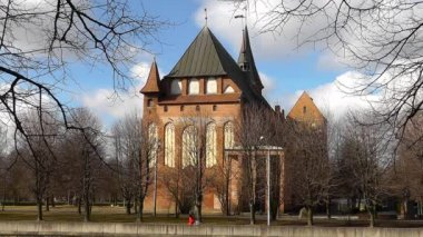Kant's cathedral in Kaliningrad. Russia — Wideo stockowe