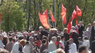 Victory Day in Kaliningrad. Russia — Stock Video