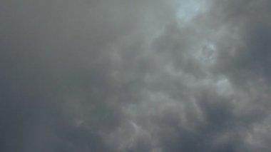 Lightning strike in dark storm clouds — Stock Video