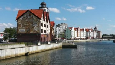Embankment of Fishing Village in Kaliningrad, Russia — Vídeo de stock