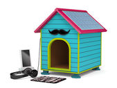 Dog kennel in Hipster style — Stock Photo