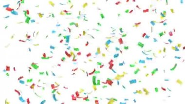 Animation of colorful confetti — Stock Video