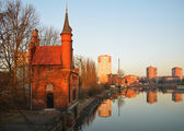 Old bridge house in Kaliningrad — Stock Photo