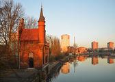 Old bridge house in Kaliningrad — Stock Photo