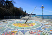 Mosaic sundial with zodiac signs — Stock Photo