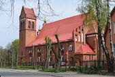 Lutheran church Ponart — Stock Photo