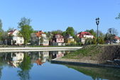 "Renovated pond ""Float"". Kaliningrad — Stock Photo"