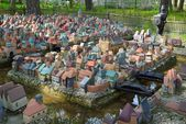 City in miniature in Svetlogorsk — ストック写真