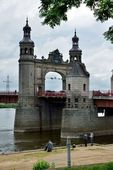 Queen Louise Bridge. Sovietsk — Stok fotoğraf