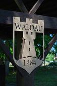 Sign inside castle Waldau — Foto de Stock