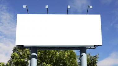 Billboard with empty screen — Stock Video