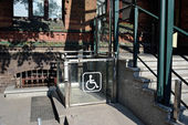 Wheelchair lift in building  — Stock Photo