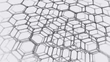 Molecular nanostructure seamless animation — Stock Video