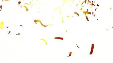 Gold confetti — Stock Video
