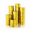 Stack of golden coins — Stock Photo #51595263