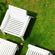 White chair on grass — Stock Photo #11948415