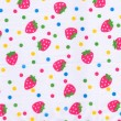 Strawberry pattern on white fabric — Stock Photo #12649642