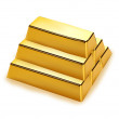 Gold bars stack — Stock Vector