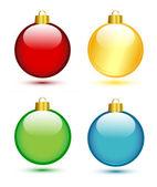 Christmas balls on white — Stock Vector