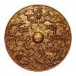 Stock Photo: Gold nine dragon around gold marble
