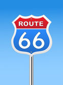 Route 66 road sign — Vettoriale Stock