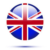 Great britain flag on button — Stock Vector