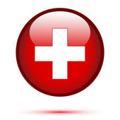 Switzerland flag on button — Wektor stockowy